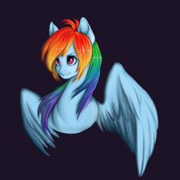Rainbow Dash *)* by Docnyaka