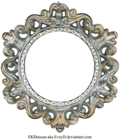 Ornate Silver and Gold - Round Frame by EveyD