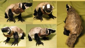 American Badger Plush Toy by Jarahamee