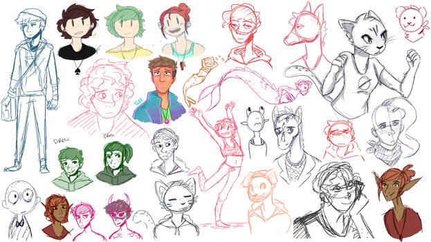 Sketchdump 7 by FeatherFrames