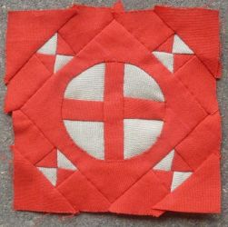 Dear Jane quilt block H-8: Eaton's crossroads by BellaGBear