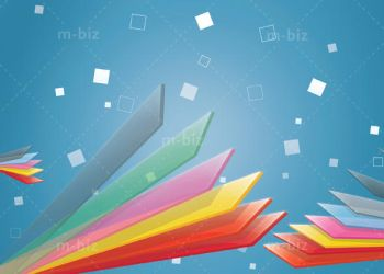 colorful slices background by m-biz