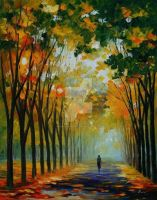 AUTUMN MOOD by Leonid Afremov by Leonidafremov