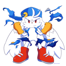 Commission Lux Klonoa unleashes his power by Domestic-hedgehog