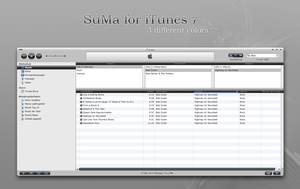 SuMa skins for iTunes 7 by MrToNeR