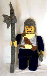 Lego Minifig Castle Guard Tribute Doll by voxmortuum