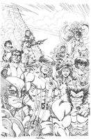 X-Men 90s pencils commission by thejeremydale