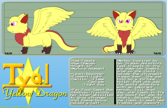 Tyal the Yellow Dragon by Tails230