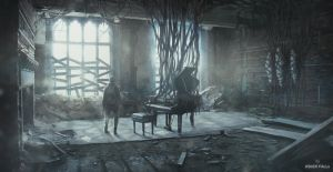 Ashen Falls - The Piano Room by Gillesketting