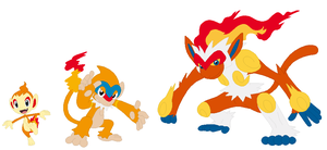 Chimchar, Monferno and Infernape Base