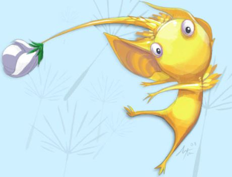 Yellow Pikmin by deadlyflume