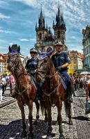 Of Prague city police to horses by pingallery