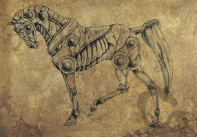 Mech Horse concept by MalinaIthil