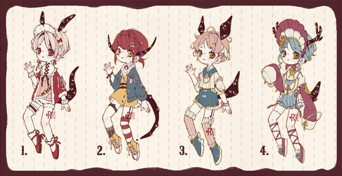 {CLOSED} Adoptable Set Price 06: Living Dolls by Reusoru