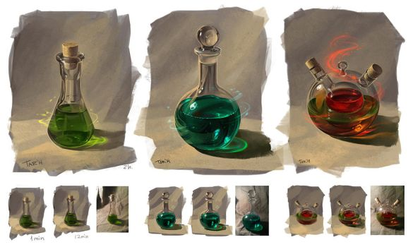 From nature: bottles by JuliaTar