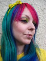 Rainbow Cherry Girl Face by cherrybomb-81