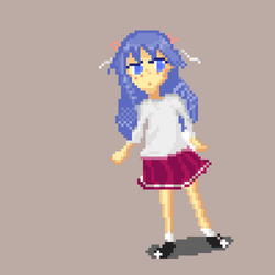 A Pixel Girl -D by gherhw1023