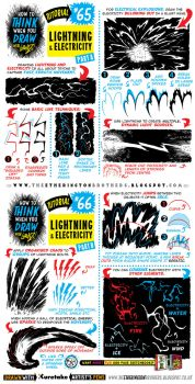 How to draw LIGHTNING and ELECTRICITY EFFECTS by STUDIOBLINKTWICE
