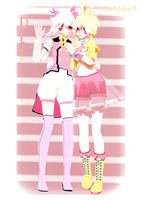+ Toy Chica-Mangle + {DL!} happy new year! by llLiarMakerll