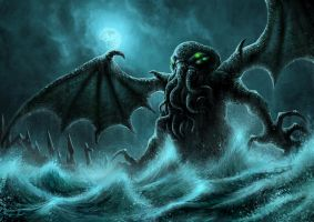 Cthulhu Rising by PeterSiedlArt