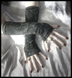 Shadow Time Arm Warmers by ZenAndCoffee