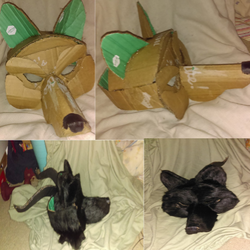 Wolf Mask for Halloween by lotrfanforlife