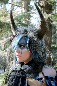 Wild Chic Buffalo Headdress 2 by ctrlaltvamp