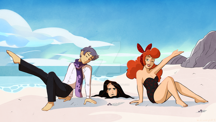 Beach Day by undercoverghost