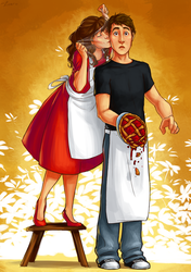 Pushing Daisies by lorellashray