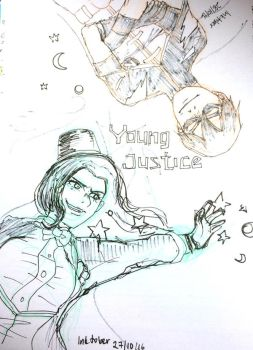 Inktober 2016 - Young Justice by kit-su-ne