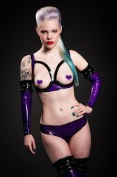 Feline Latex Designs Lingerie Set by THETERRORCAT