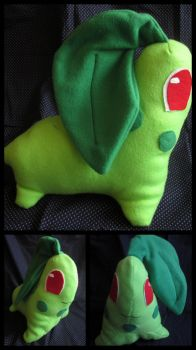 Chikorita Plush by mylifeline