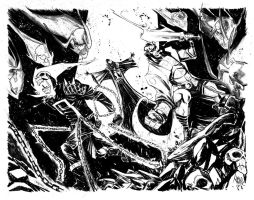 Ghost Rider | Hellboy by alessandromicelli