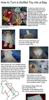 How To Turn a Stuffed Toy into a Bag by missgnomeluvr