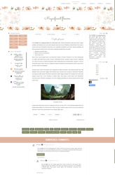 Magnificent Flowers - blogger template by Starved-Soul