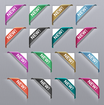 Vector Corner Ribbons Photoshop Download by ramijames