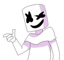 marshmello pixel art by Dane-elle
