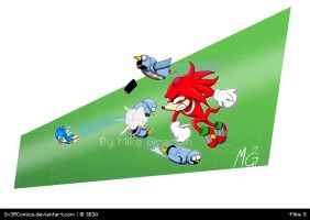 Sonic Mania Knuckles by Gx3RComics