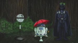 Death Star Bus Stop by sasart796