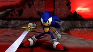 MMD Sonic Newcomers - Sonic 1.4 and Caliburn +DL+ by MMDCharizard