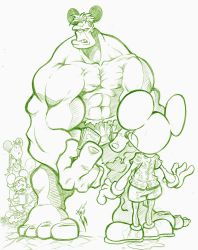 Hulk and Mouse by skulljammer