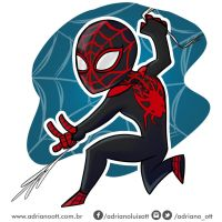 Miles Morales' Spider Man by adrianoOtt