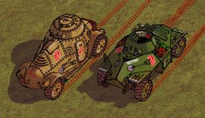 Marbanian Armoured Cars DETAIL by wingsofwrath