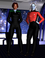 TNG The Major and the Captain by Sailmaster-Seion