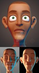 Human face 3d by Sarcix82