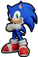 Smol Adventure Sonic by ModernLixes