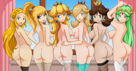 Nintendo girls by Shablagooo