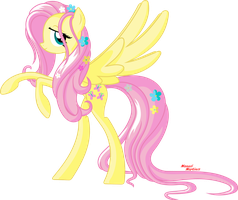 Fluttershy (2nd Vector) by RexPony