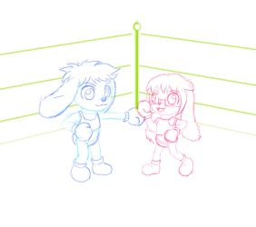 Fwo - Boxing Sketch by Princesspolly63 by OverFlo207