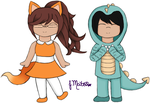 Foxy and Dino by AngelSpice737